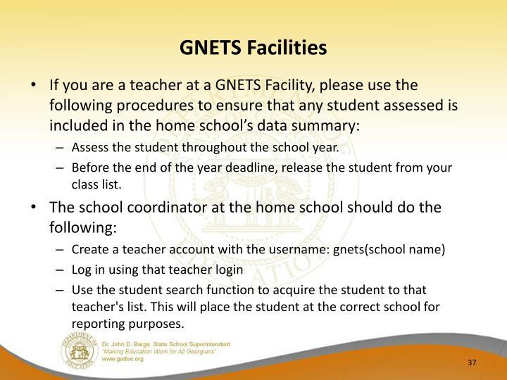 GNETS Facilities