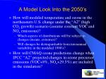 a model look into the 2050 s