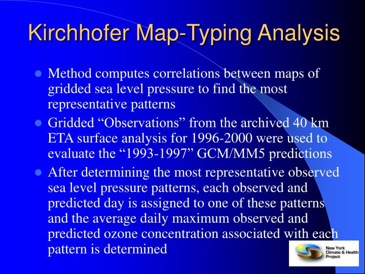 Kirchhofer Map-Typing Analysis