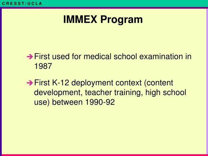 IMMEX Program