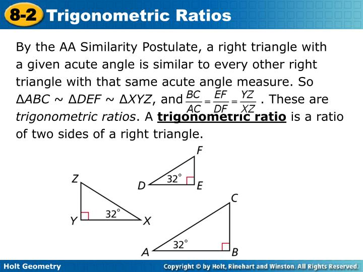 By the AA Similarity Postulate, a right triangle with