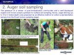 2 auger soil sampling