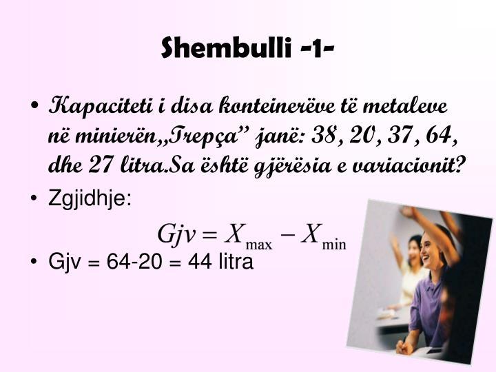 Shembulli -1-