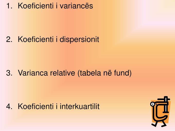 Koeficienti i variancës