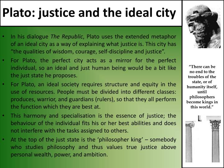 Plato: justice and the ideal city