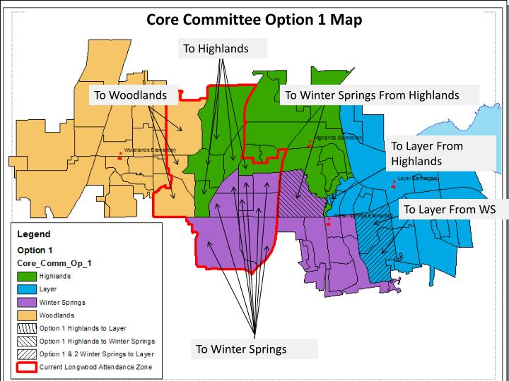 Core Committee Option 1 Map