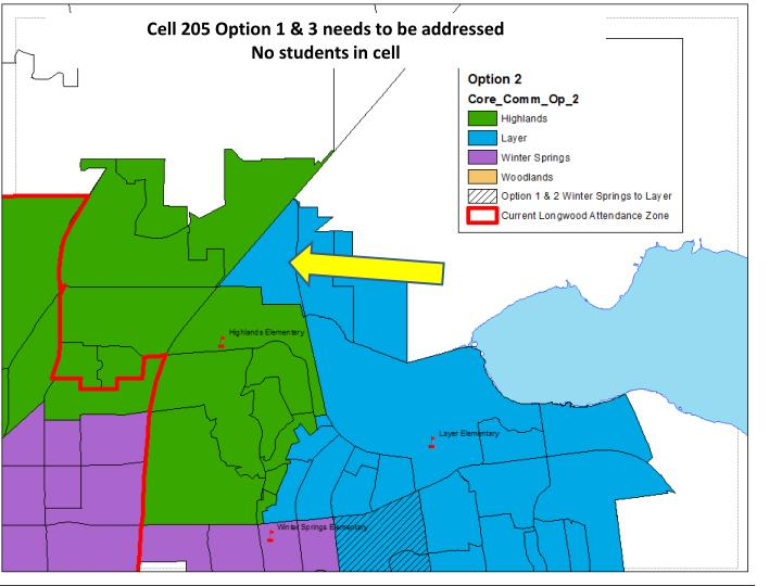 Cell 205 Option 1 & 3 needs to be addressed
