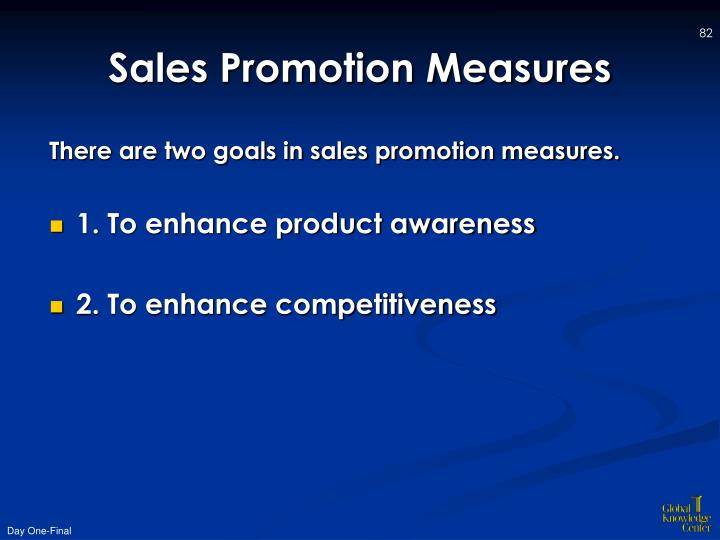 Sales Promotion Measures