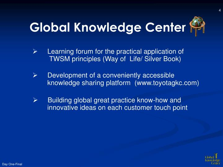 Global Knowledge Center