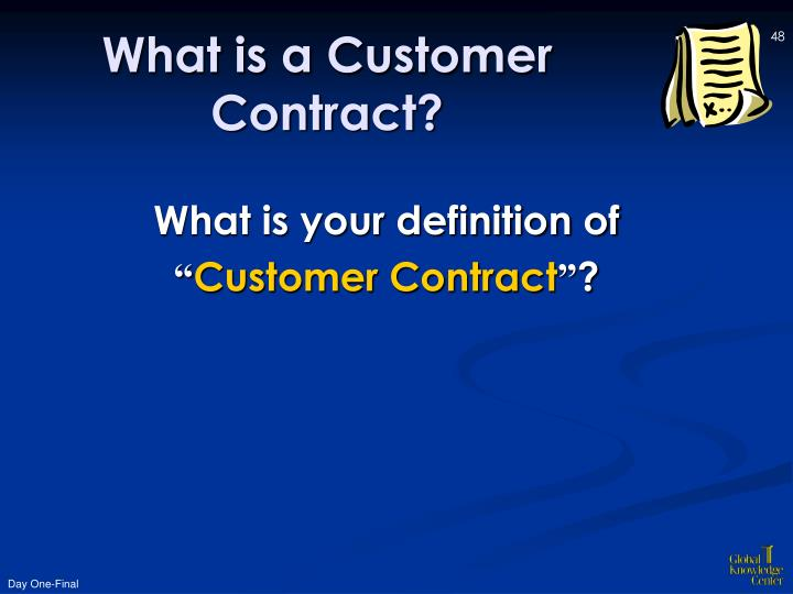 What is a Customer Contract?