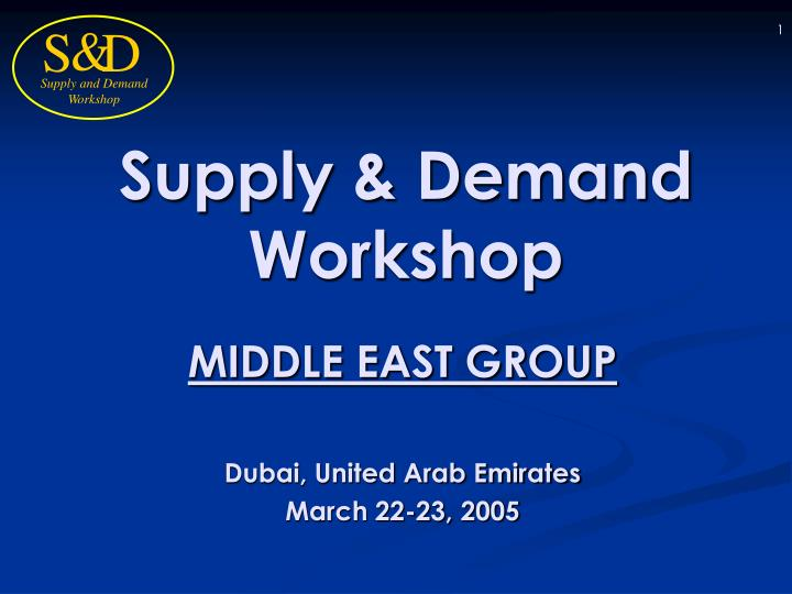 Supply demand workshop