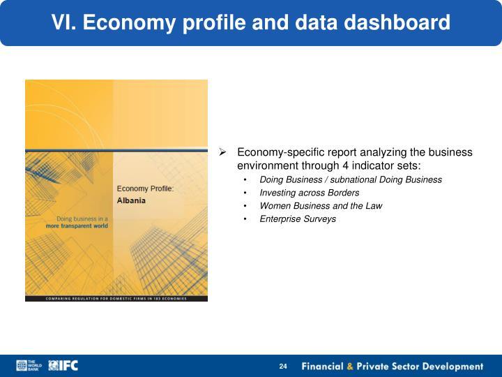 VI. Economy profile and data dashboard