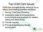 top child care issues
