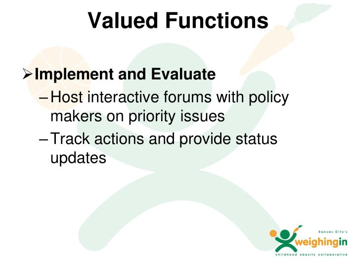 Valued Functions