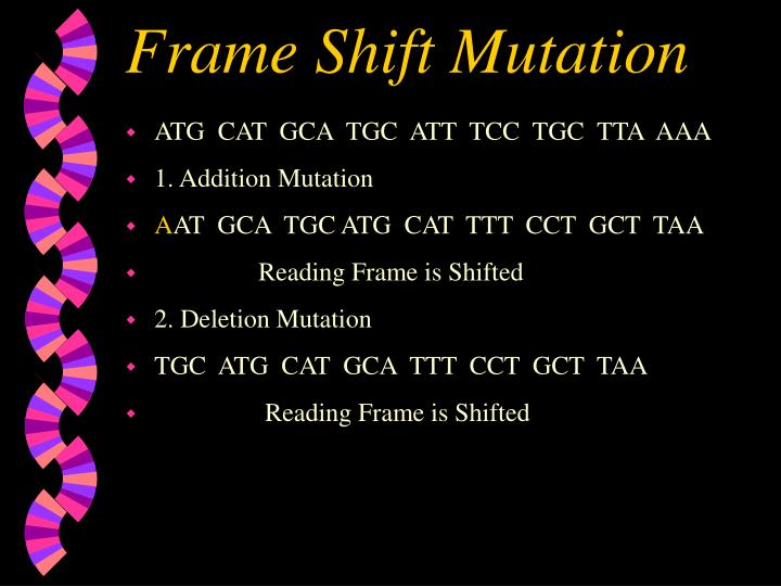 Frame Shift Mutation