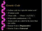 genetic code1