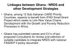 linkages between ghana nrds and other development strategies