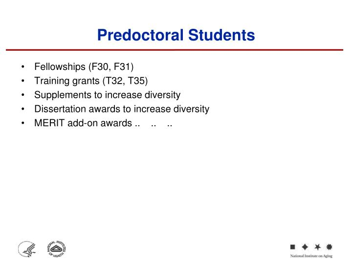 Predoctoral Students