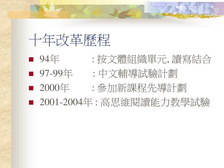 十年改革歷程