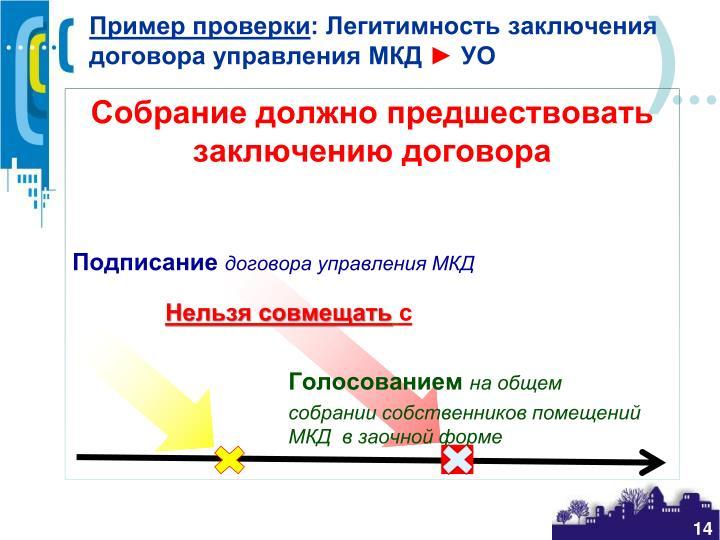 Пример проверки