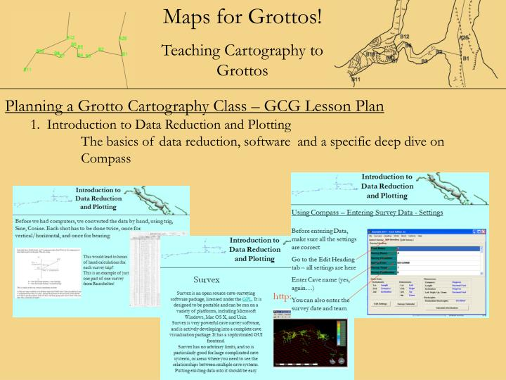 Planning a Grotto Cartography Class – GCG Lesson Plan