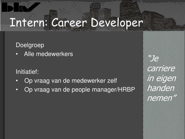 Intern: Career Developer