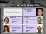 intern pid via alu university