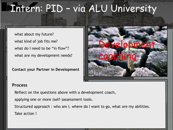 Intern: PID – via ALU University