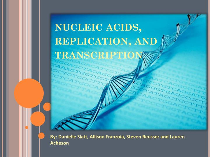 Nucleic acids replication and transcription