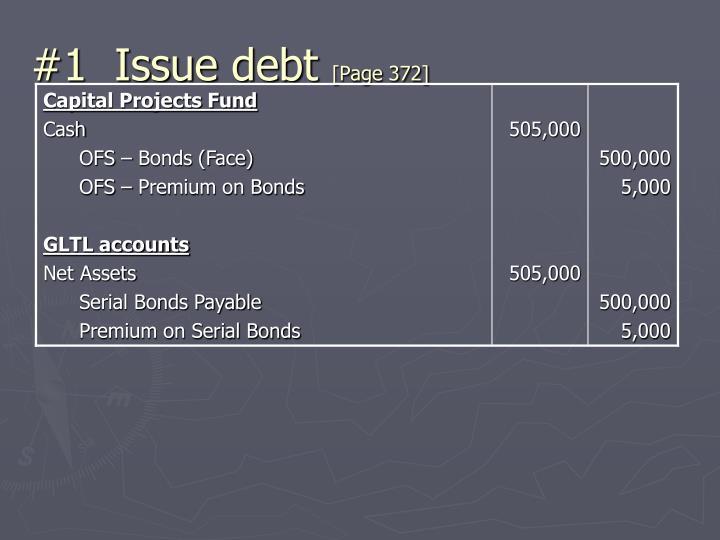 #1  Issue debt