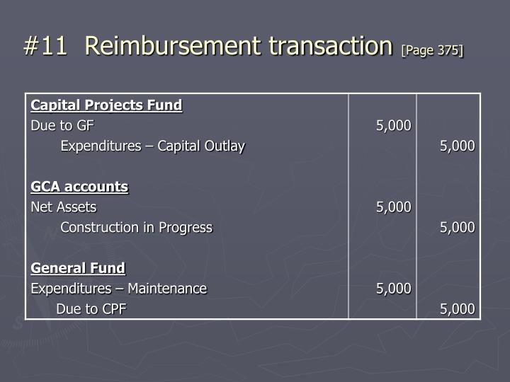 #11  Reimbursement transaction