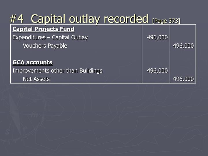#4  Capital outlay recorded