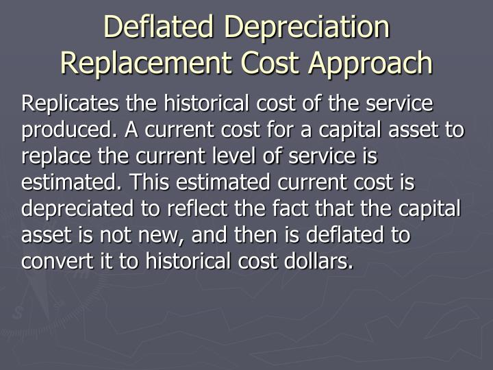Deflated Depreciation Replacement Cost Approach