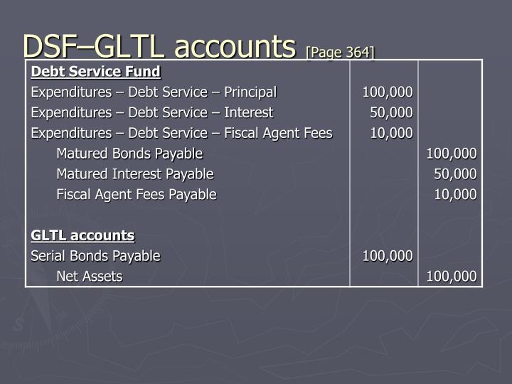 DSF–GLTL accounts