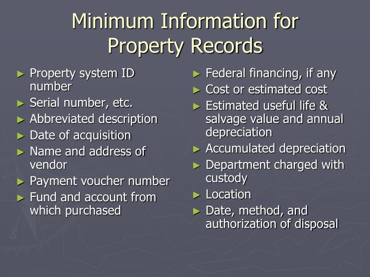 Property system ID number