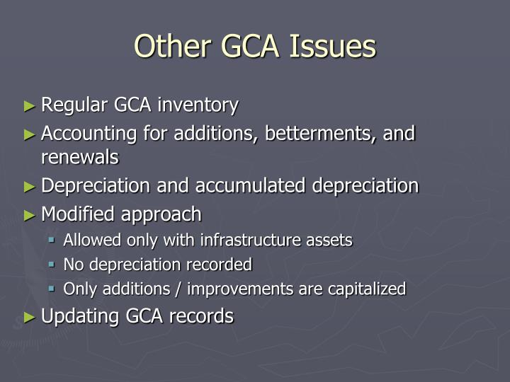 Other GCA Issues