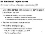 iii financial implications elements of continued collaboration supporting the gco