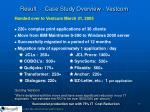 result case study overview vestcom
