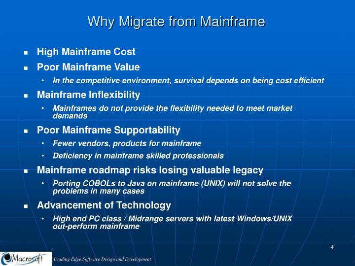Why Migrate from Mainframe