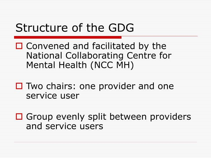 Structure of the gdg