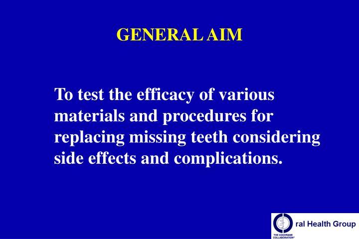 GENERAL AIM