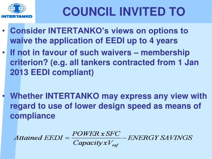 COUNCIL INVITED TO