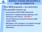market based measures one alternative