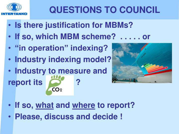 QUESTIONS TO COUNCIL