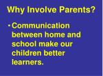 why involve parents