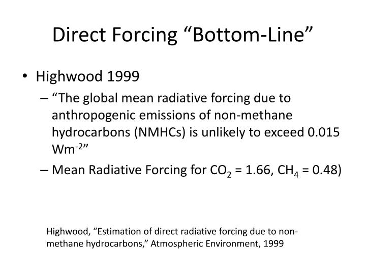 "Direct Forcing ""Bottom-Line"""