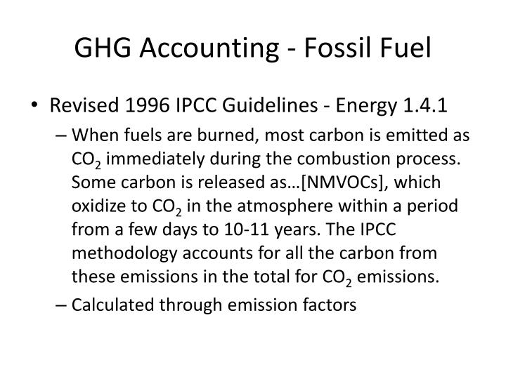 GHG Accounting - Fossil Fuel