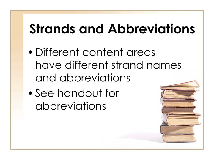 Strands and Abbreviations