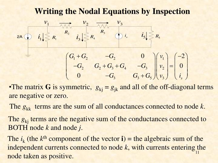 Writing the Nodal Equations by Inspection
