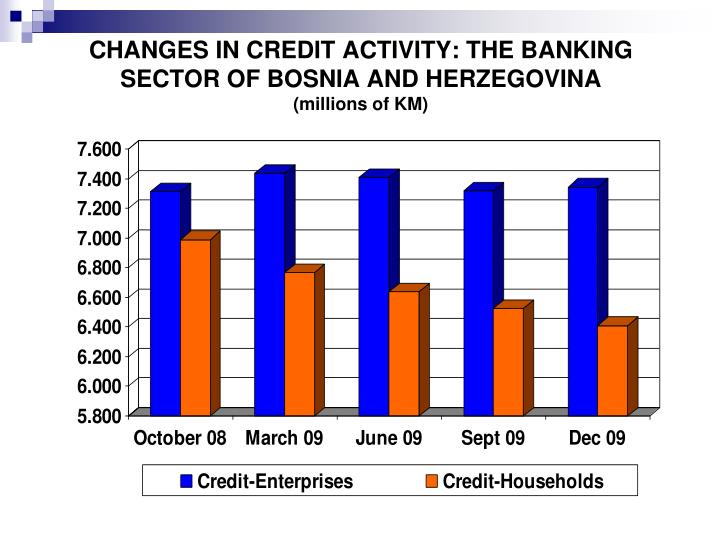 CHANGES IN CREDIT ACTIVITY: THE BANKING SECTOR OF BOSNIA AND HERZEGOVINA